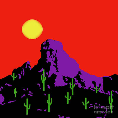 Painting - Scottsdale Mountain by Methune Hively