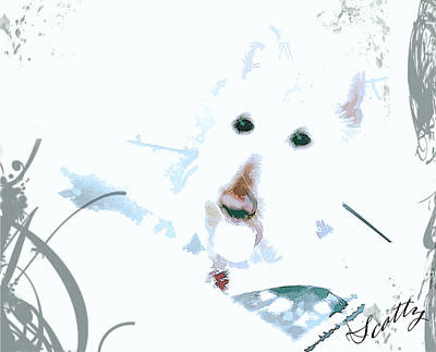 Scottish Dog Digital Art - Scotty Blue by Image Takers Photography LLC - Carol Haddon and Laura Morgan