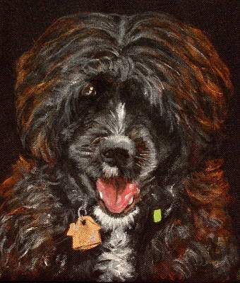 Dog Close-up Painting - Scout by Carol Russell