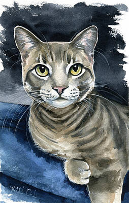 Painting - Scout - Cat Portrait by Dora Hathazi Mendes