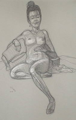 Drawing - Scout Reclining by Donelli  DiMaria