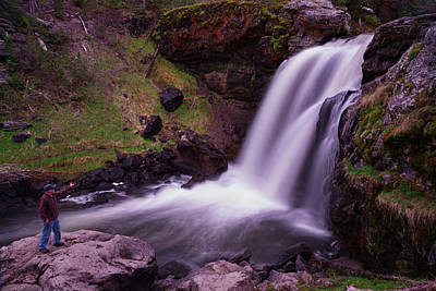 Photograph - Scouting At Moose Falls by Mike Berenson