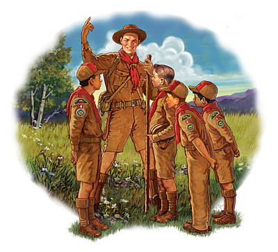Scoutmaster Art Print