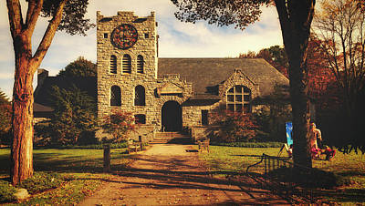 Photograph - Scoville Memorial Library - Salisbury, Connecticut by Library Of Congress