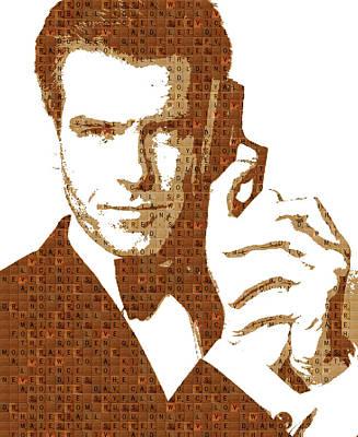 Pierce Brosnan Digital Art - Scrabble 007 - Brosnan by Gary Hogben