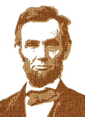Gettysburg Address Painting - Scrabble Abraham Lincoln by Gary Hogben