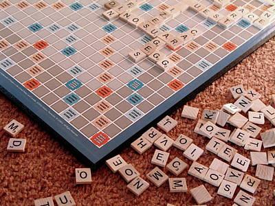 Scrabble Board Art Print