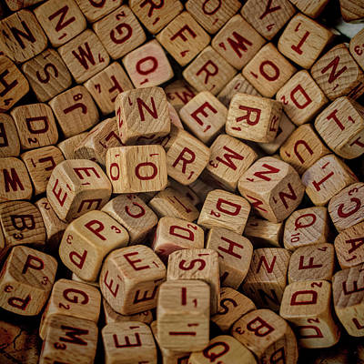 Photograph - Scrabble Cubes by Lewis Mann