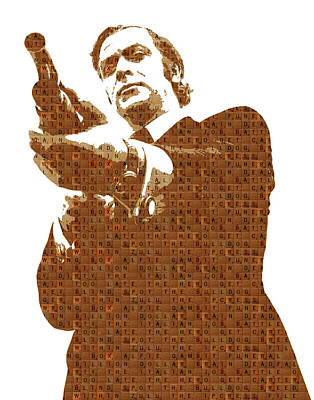 Caine Painting - Scrabble Get Carter by Gary Hogben