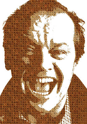 Jack Nicholson Painting - Scrabble Jack Nicholson by Gary Hogben