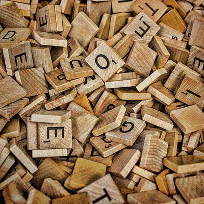 Photograph - Scrabble Squares by Lewis Mann
