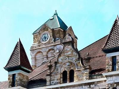 Photograph - Scranton - Courthouse Square - Clock Tower  by Janine Riley