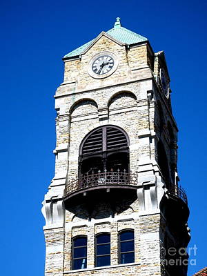 Photograph - Scranton Blue Sky - Courthouse Tower  by Janine Riley