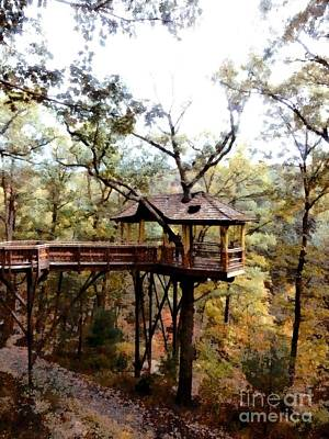 Photograph - Scranton Pa - Nay Aug Park Treehouse 2 by Janine Riley