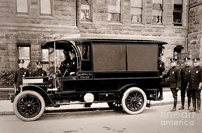 Scranton Pennsylvania  Bureau Of Police  Paddy Wagon  Early 1900s Art Print