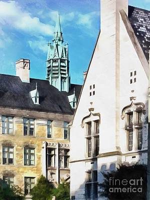 Photograph - Scranton Rooftops City Hall by Janine Riley