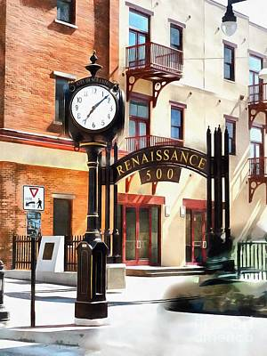 Photograph - Scranton - Street Clock - Renaissance 500 Lackawanna Ave by Janine Riley