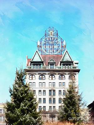 Photograph - Scranton - The Electric City - Building by Janine Riley