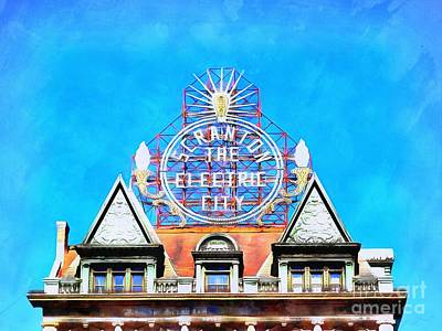 Photograph - Scranton - The Electric City - Sign by Janine Riley