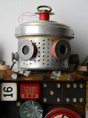 Mixed Media - Scrap Bot by Jen Hardwick