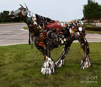 Steampunk Royalty-Free and Rights-Managed Images - Scrap Horse by Mark McReynolds