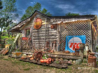 Log Cabins Photograph - Scrap House by Jimmy Ostgard