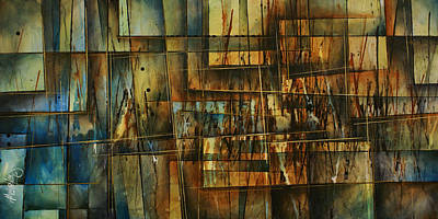 Earth Tones Painting - Scratch by Michael Lang