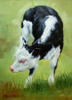 Painting - Scratching Calf by Margaret Stockdale