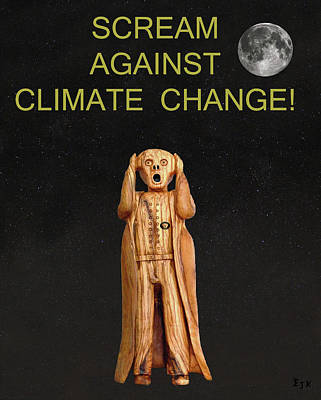 Mixed Media - Scream Against Climate Change by Eric Kempson