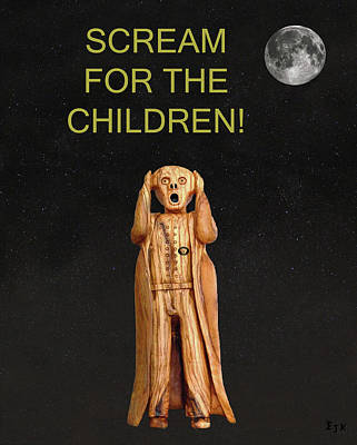 Scream For The Children Art Print