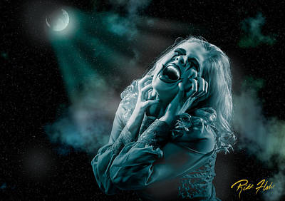 Photograph - Scream In The Night by Rikk Flohr