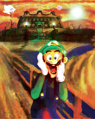 Scream Luigi Art Print