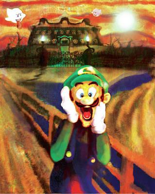 Ghost Busters Digital Art - Scream Luigi by Ivan Florentino Ramirez