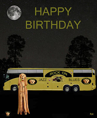 Mixed Media - Scream Music Tour Happy Birthday by Eric Kempson