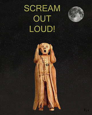 Trial Mixed Media - Scream Out Loud by Eric Kempson