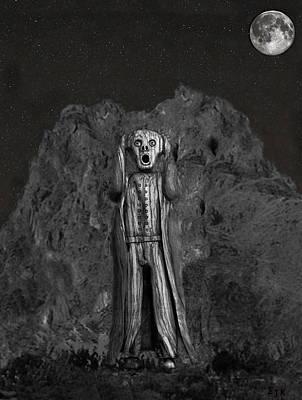 Scream Rock Art Print
