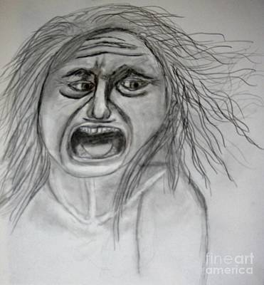 Drawing - Scream by Victoria Hasenauer
