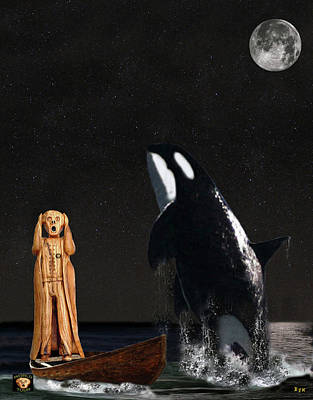 Orca Mixed Media - Scream With Orca by Eric Kempson
