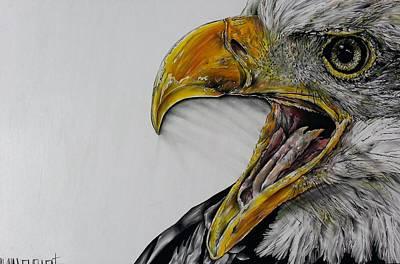 Screaming Bald Eagle Original by Shawna Lewellen