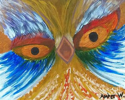 Animals Paintings - Screaming Bird  by Just Another-Bird