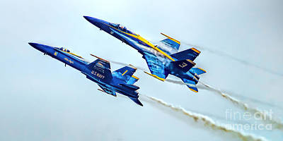 Photograph - Screaming Blue Angles by Nick Zelinsky
