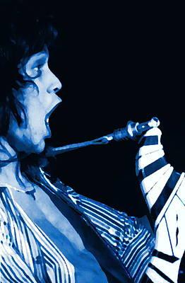 Edward Van Halen Photograph - Screaming Blue Guitar Art by Ben Upham