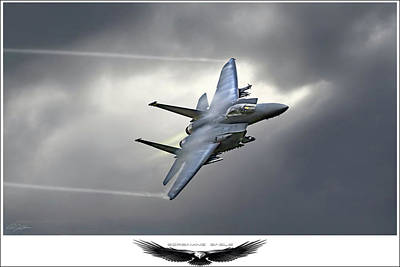 F15 Wall Art - Digital Art - Screaming Eagle 2 by Peter Chilelli