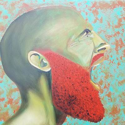 Red Painting - Screaming Rojo by Jerel Ferguson