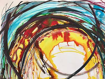 Painting - Screaming Sun by Lynne Schulte
