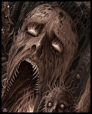 Screams From Beyond Art Print by Mark Cooper