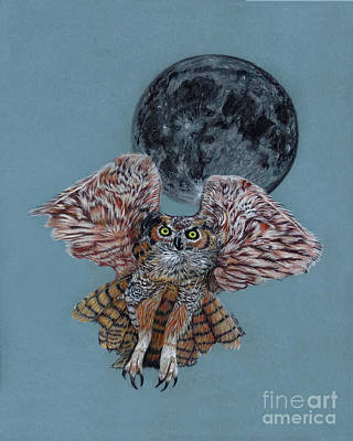 Painting - Screech In The Night by Peter Piatt