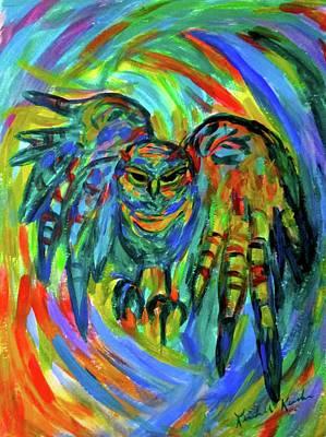 Painting - Screech  by Kendall Kessler