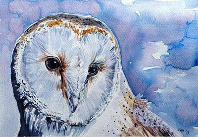Painting - Screech-owl by Kovacs Anna Brigitta