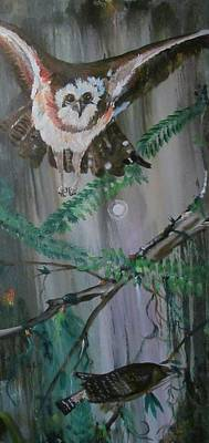 Painting - Screech by Susan Snow Voidets